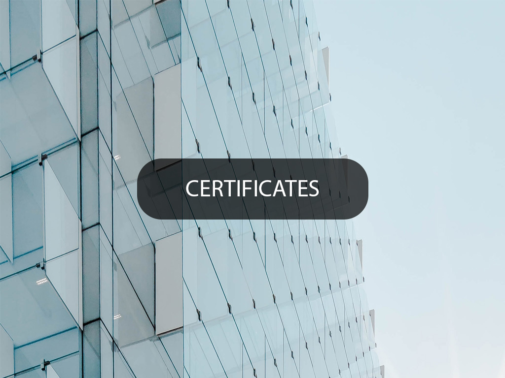 Home Tel Certificates